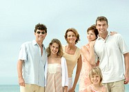Group portrait on beach