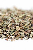 Dried vervain (Verbena officinalis) for use in herbal medicine. Infusions of this herb have been used to treat nervous complaints and to promote diges...