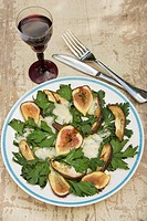 a special dish with fig.