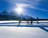 Cross_country skiing, family, group, skiing, cross_country skiing, snow, cross_country trail, winter, winter sports, s