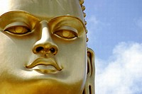 Close-up of a golden statue
