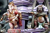 Statues on a hindu temple