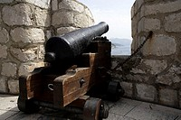 Canon at a fort in Dubrovnik