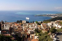 Elevated view of Sicily, Southern Italy