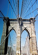 Brooklyn Bridge, New York City, New York, USA