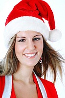 Woman in santa suit