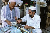 Money exchange at Khyber bazaar, Peshawar. North-West Frontiere Province (NWFP), Pakistan