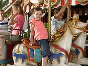 Kids on a carousel