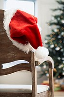 Santa hat on chair