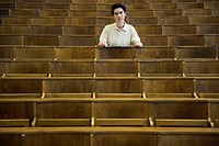College student sitting in a lecture hall
