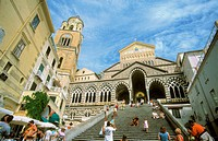 9th century St. Andrew's cathedral in old town, Amalfi. Campania, Italy