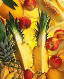 Assorted Fruits: Pineapple, Citrus and Melons