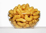 Glass bowl of peanut flips