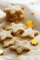 Several star biscuits