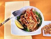 Chicken with peanut sauce