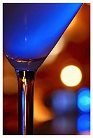 Blue hypnotique martini