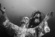 Christ of the Abyss. John Pennekamp Coral Reef State Park. Florida Keys. Key Largo. USA.