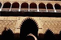 Courtyard. Alhambra. Granada. Andalucia. Spain