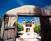 Chimayo adobe church. New Mexico. USA