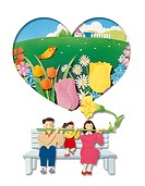 illustration images about lovely moments of happy family