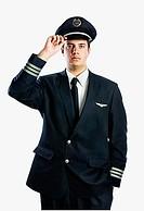 Male airline pilot