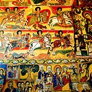 Paintings in orthodox church, Ethiopia