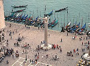 view on San marco square in Venice