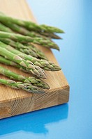 Asparagus spears on board