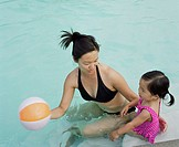 Woman and Toddler in Pool