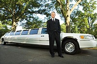 Limousine and chauffeur