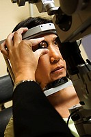 Woman at an ophthalmologist