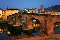 Medieval bridge, Puente la Reina. Road to Santiago, Navarra, Spain
