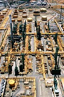Oil refinery in North Bay near San Francisco. California, USA