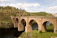 Roman bridge, Alcántara. Cáceres province, Extremadura. Spain