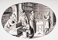 Shop of a Grocer and Druggist in the 17th century