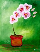 'Orchids' Acrylic on canvas. 2003. Private collection