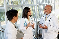 Group of doctors talking, North Bethesda, Maryland, United States