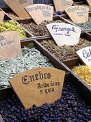 Herbs for sale. Fira de Sant Pon&#231;. Catalu&#241;a. Spain