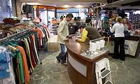 Sports clothing shop. Elgoibar, Gipuzkoa, Euskadi. Spain.