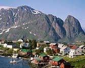 Town View / Mountains, Reine, Lofoten Islands, no image