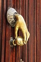 Door knob. Ávila. Castilla y Leon. Spain.