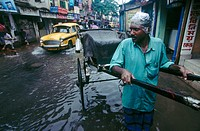 Monsoon in Calcutta. West Bengal, India