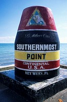 Sign marking southernmost point in USA
