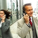 a man talking on a mobile phone