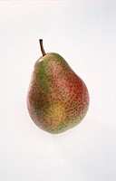 A red and green pear