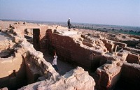 Ruins of village, Al Fayyum. Lybian desert, Egypt