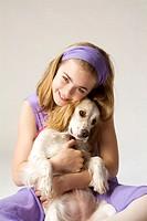 dog and girl, 10