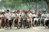 Vietnam, Saigon, traffic in city centre