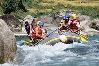 Nepal, Bhote Koshi River, rafting/kayaking