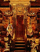 Temple gate at night